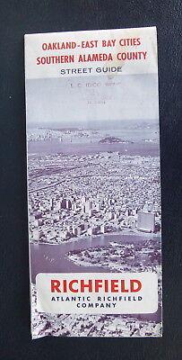 1967 Oakland East Bay Alameda street map Richfield oil  gas Danville (Bay Street Oakland)