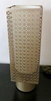 VTG. 1960's RETRO ATOMIC PERFORATED SHEET METAL TABLE LAMP