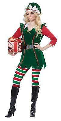 Santa Festive Elf Christmas Adult Women - Santa Woman Costume