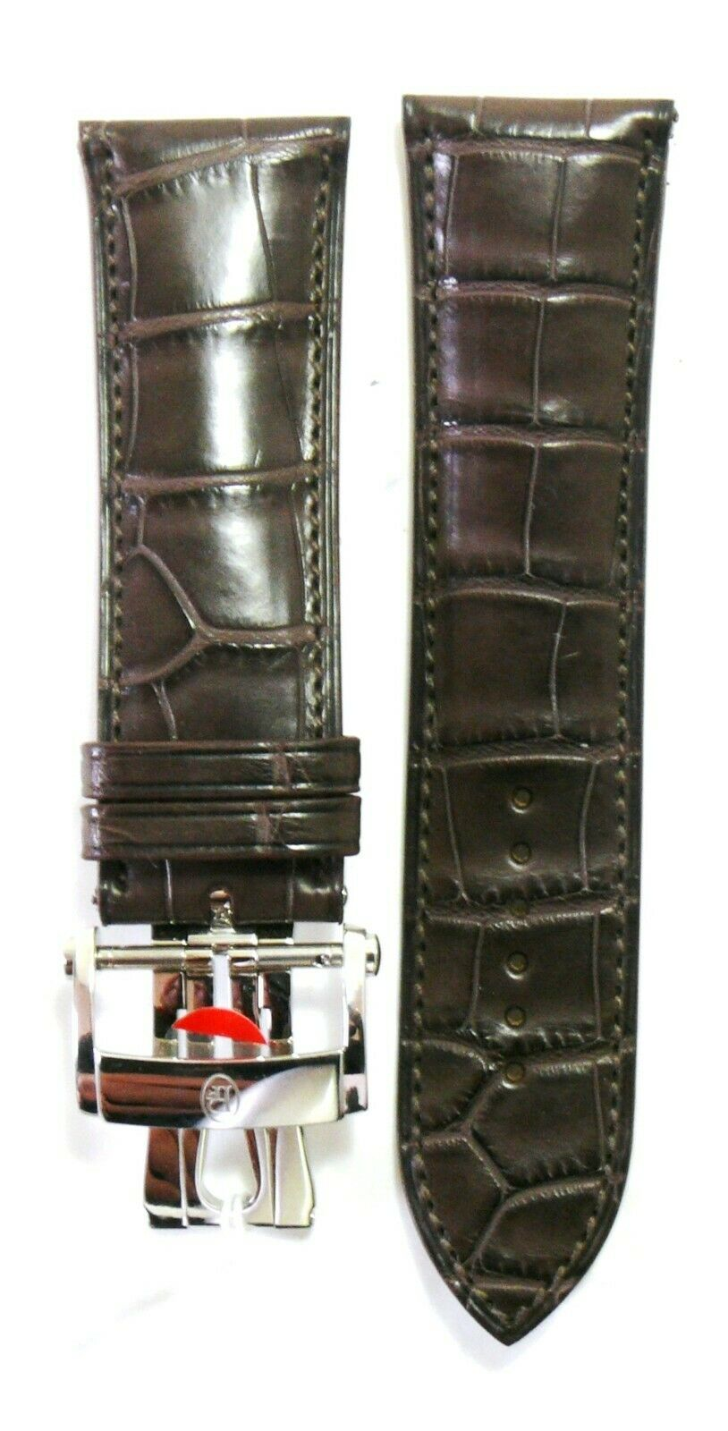 Genuine Parmigiani Fleurier Brown Watch Strap Hermes with buckle NEW 36189