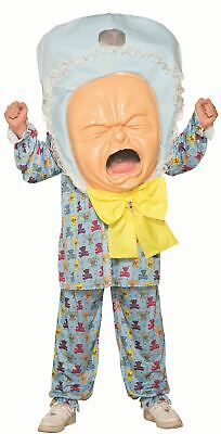 Baby Head Costume (Adult Mens Unisex Funny Big Head Crying Baby Stag Do Fancy Dress Costume)