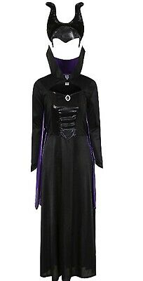 Disney Ladies Costumes (Ladies Disney Villains Maleficent Fancy Dress Costume/Evil Queen Cosplay ~)