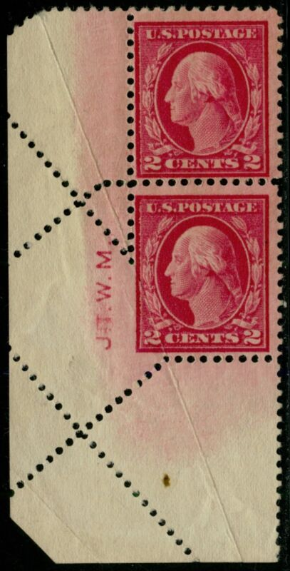 "#499 Var. Pair ""washington"" With Fold Over Major Error Bq2309"