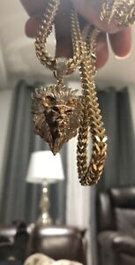 Brand new Gold Franco Chain and pendant!