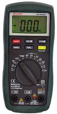 Sinometer Ms8221 Digital Acdc Multimeter With Battery Tester And High Accuracy