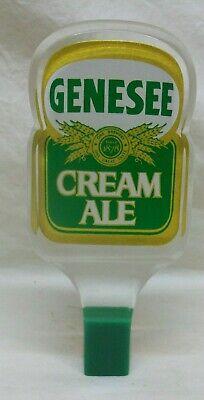 "Vintage ""Genesee Cream Ale"" Draft Beer Tap Handle Clear Acrylic 6-1/2"" Tall EXL!"