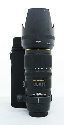 Sigma APO 70-200mm F/2.8 EX DG OS HSM for Nikon F with pouch