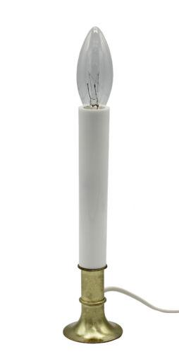 Electric Sensor Window Candle w/ Metal Base,Bulb Dusk to Dawn Sensor Auto On/Off
