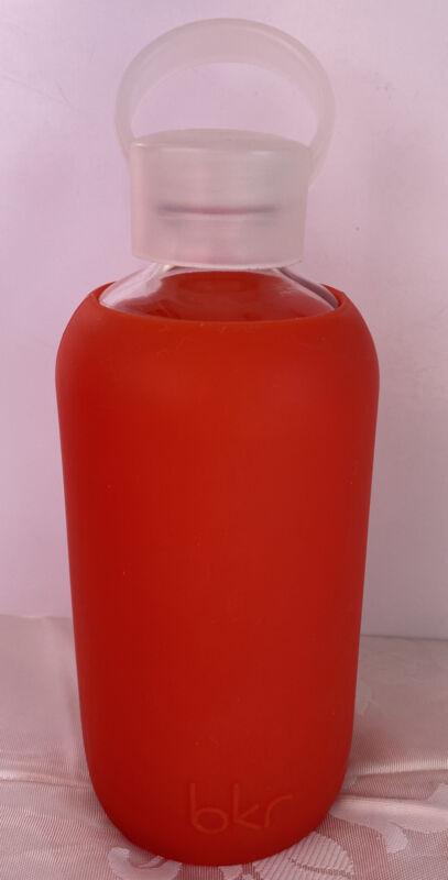 BKR 500 ml Orange silicone Smooth sleeve glass water bottle