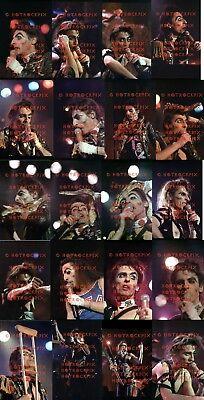 21 DIFFERENT 4X6 PHOTOS OF ALICE COOPER IN CONCERT 1979