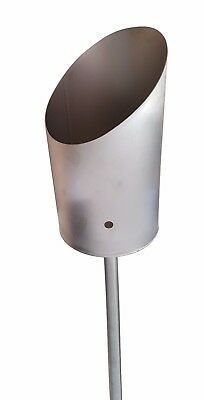 Gartenfackel Edelstahl Toilettenpapier-Fackel Klopapier-Fackel Windlicht IFS2A