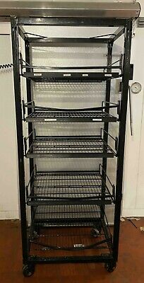 Anthony Walk In Roll Away Cart Shelving Unit Shelf Wire Display Rack Cooler A