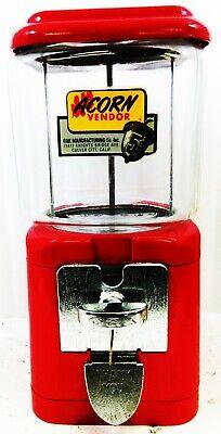 Acorn 5c Peanut / Candy Machine Circa 1950's Red