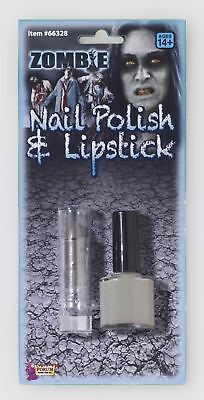Zombie Nail Polish Lipstick Makeup Walking Dead Grey Halloween Costume Accessory - Grey Halloween Makeup