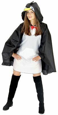 Pinguin Party Poncho für Erwachsene Karneval Fasching Party - Party Kostüme Für Erwachsene