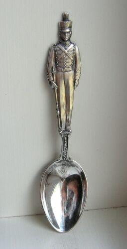 Watson Sterling Silver Full Figure US Military Soldier Souvenir Demitasse Spoon