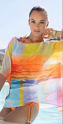Trina Turk Crystal Cove Swim Cover Up Tunic Top Sz M Nwt  128