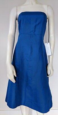 NWT J.CREW Strapless Bridesmaid Dress Sz 2 Knee Length A-Line Light Vintage Blue