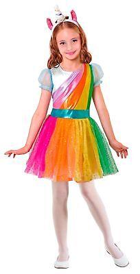 Glamour Einhorn Kostüm für Kinder NEU - Mädchen Karneval Fasching Verkleidung Ko