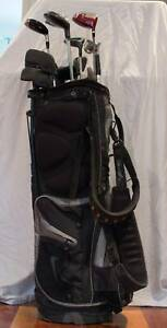 Golf clubs with bag and buggy