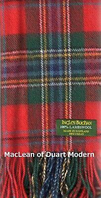 MacLean Duart Modern Clan Winter Neck Scarf Brushed Lambswool Scottish Tartan  Maclean Duart Tartan