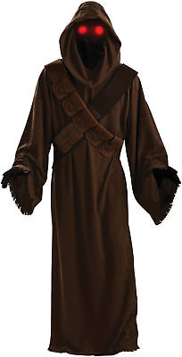 Jawa Deluxe Adult Men Hooded Mask Star Wars Halloween Costume Rubies](Jawa Halloween Costume)