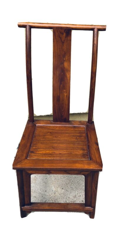 Chinese Huanghuali Imperial Period Official,s Hat Side Chair S Back