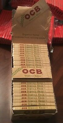 Ocb Rolling Papers - OCB Organic Hemp 1.0 Single Wide Rolling Papers 70mm Box 50 Packs/w 50 Leaves