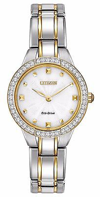 Citizen Eco-Drive Women's EX1364-59A Crystal Accents Two-Tone Bracelet Watch