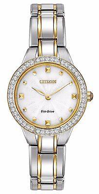 Citizen Eco-Drive Women's EX1364-59A Crystal Accents Two-Tone Bracelet Watch