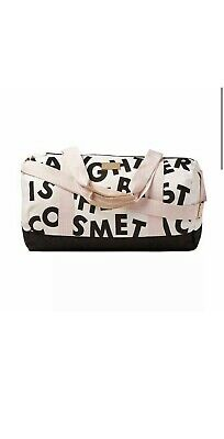 BENEFIT San Francisco LAUGHTER IS THE BEST COSMETIC Canvas Duffle Bag NEW IN