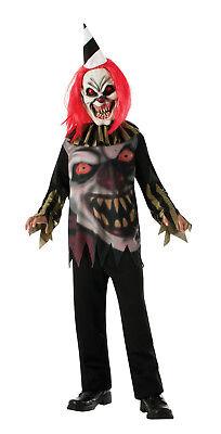 Kids Freako the Clown Costume Killer Clown Halloween Spooky Size Lg - Spooky Clown Kostüm