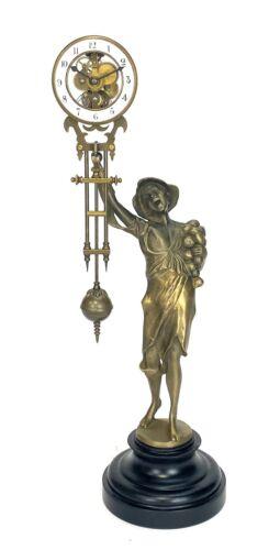 German Style Junghans Onion Boy Swinging Swinger Clock w 8 Day Skeleton Movement