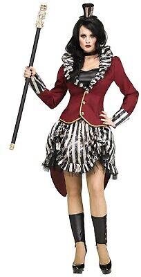 Adult Freak Show Ringmistress Ringmaster Circus Costume  - Circus Freak Costumes