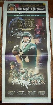 Rare Sold Out Philadelphia Eagles vs The Empire Super Bowl prev. Inquirer 2/2/18
