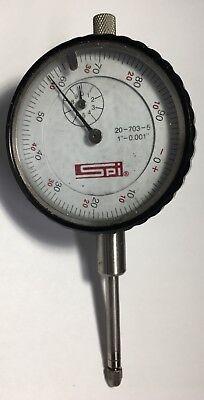 Swiss Precision Instrument 20-703-5 Dial Indicator 0-1 Range .001 Graduation