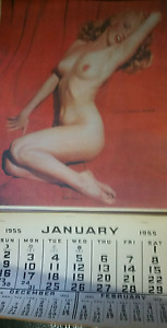 Extremely Rare and antique Marilyn Monroe  calendar