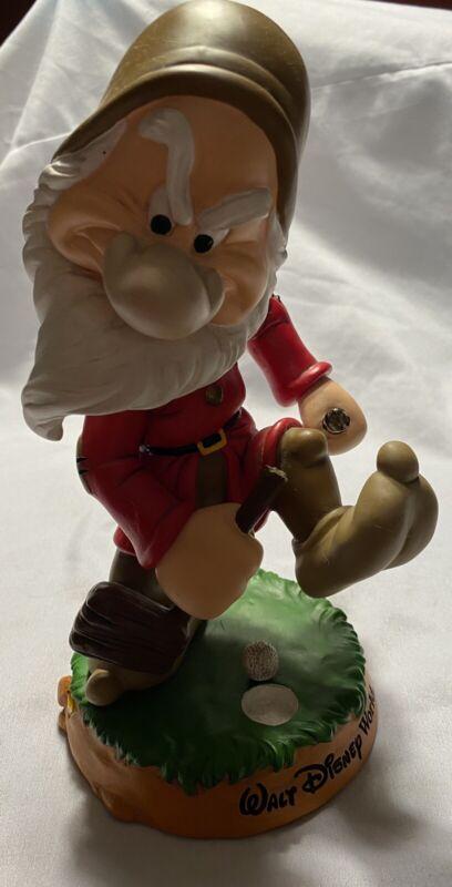 Walt Disney World Seven Dwarfs GRUMPY Bobble Head GOLF Figure Figurine
