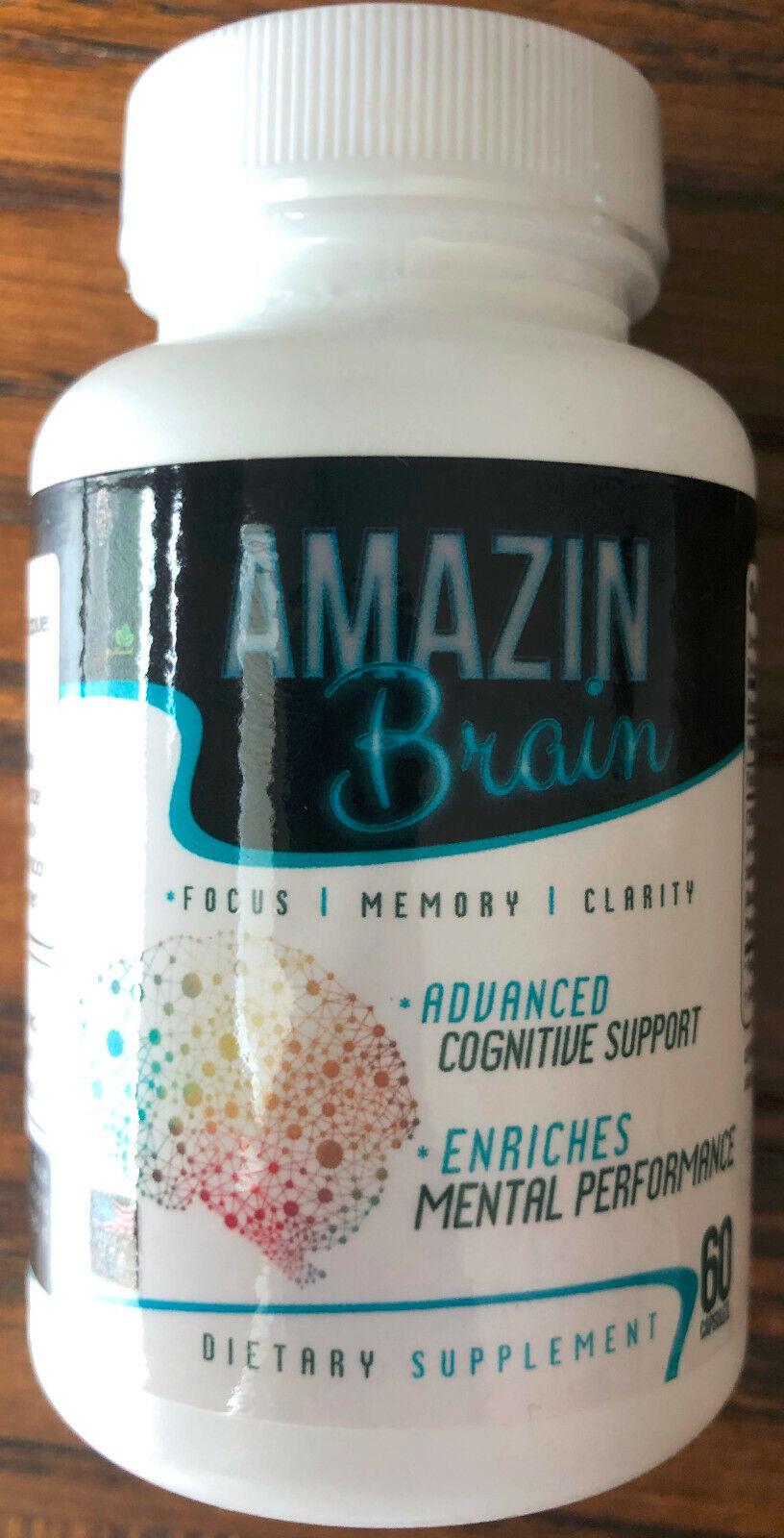 AMAZIN BRAIN - FOCUS, MEMORY, CLARITY - ADVANCED COGNITIVE SUPPORT