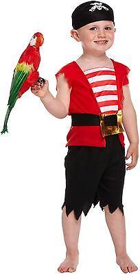 Toddler Boys Pirate Fancy Dress Up Party Costume Age 3 World Book Day - Toddler Bible Costumes