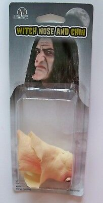 WICKED WITCH NOSE & CHIN LATEX PROSTHETIC APPLIANCE COSTUME MAKEUP PM778172