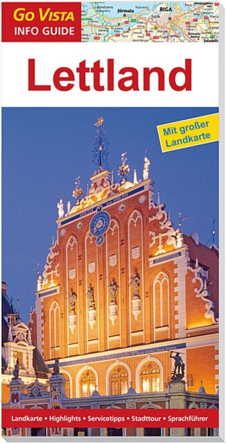 REISEFÜHRER LETTLAND RIGA 2015 ~ BALTIKUM + GROSSE AKTUELLE LANDKARTE NEUWARE