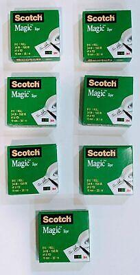 8 X Scotch Tape Magic 810 Jumbo Rolls 6 Pack 34 In X 1500 In 41.6 Yd Per Roll