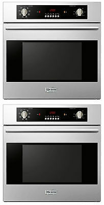 "Verona VEBIEM241SS 24"" 2 Single Electric Wall Oven Built In 110 Volt Stackable"