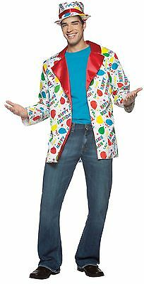 Birthday Suit Halloween Costumes (Birthday Suit Jacket+Hat Halloween Costume Party Clown Adult Standard)