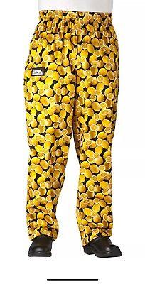 Chefwear Work Chef Pants Lemon Print 4xl