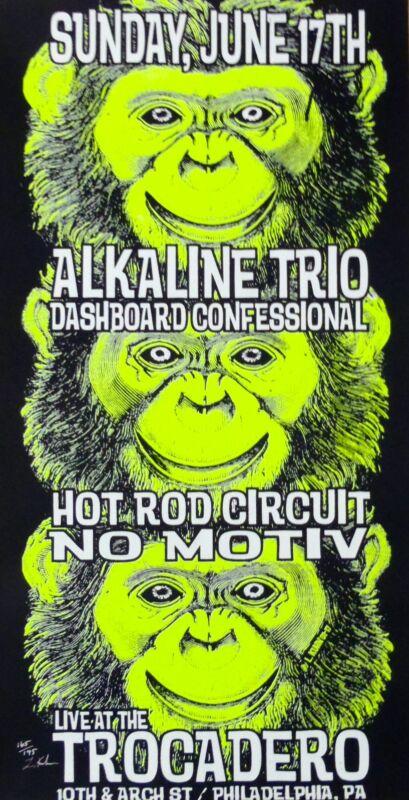 Dashboard Confessional Concert Poster Lindsey Kuhn Black