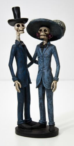 Halloween Day of the Dead Skeleton Couples Figurines