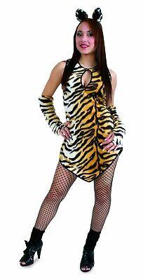Kostüm Tigerlilli Plüschkleid Kleid Tiger Wildkatze Tigerkleid Karneval - Plüsch Katze Kostüm