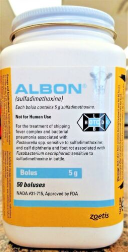 Albon 5gm 50ct Boluses for Cattle Zoetis